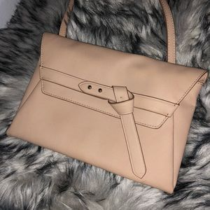 Vince Camuto Aggie Nude Leather Clutch